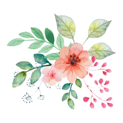Watercolor Wreath Green Leaf Wreath Hand Painted Garland Hand Painted Flower