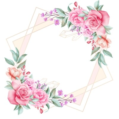 Soft Floral Arrangement For Wedding Invitation Card Composition Watercolor Flowers Illustration Of Peach Roses Leaves Branches Composition