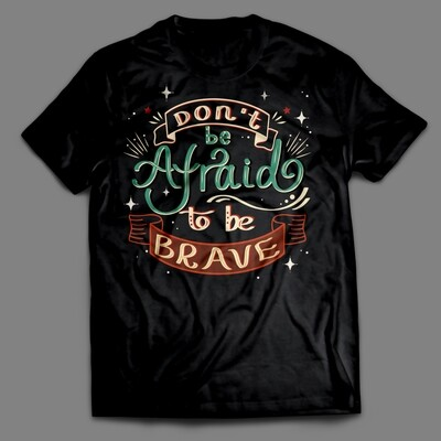 Hand Drawn Cute Style Quote Elements - Don't be afraid to be brave