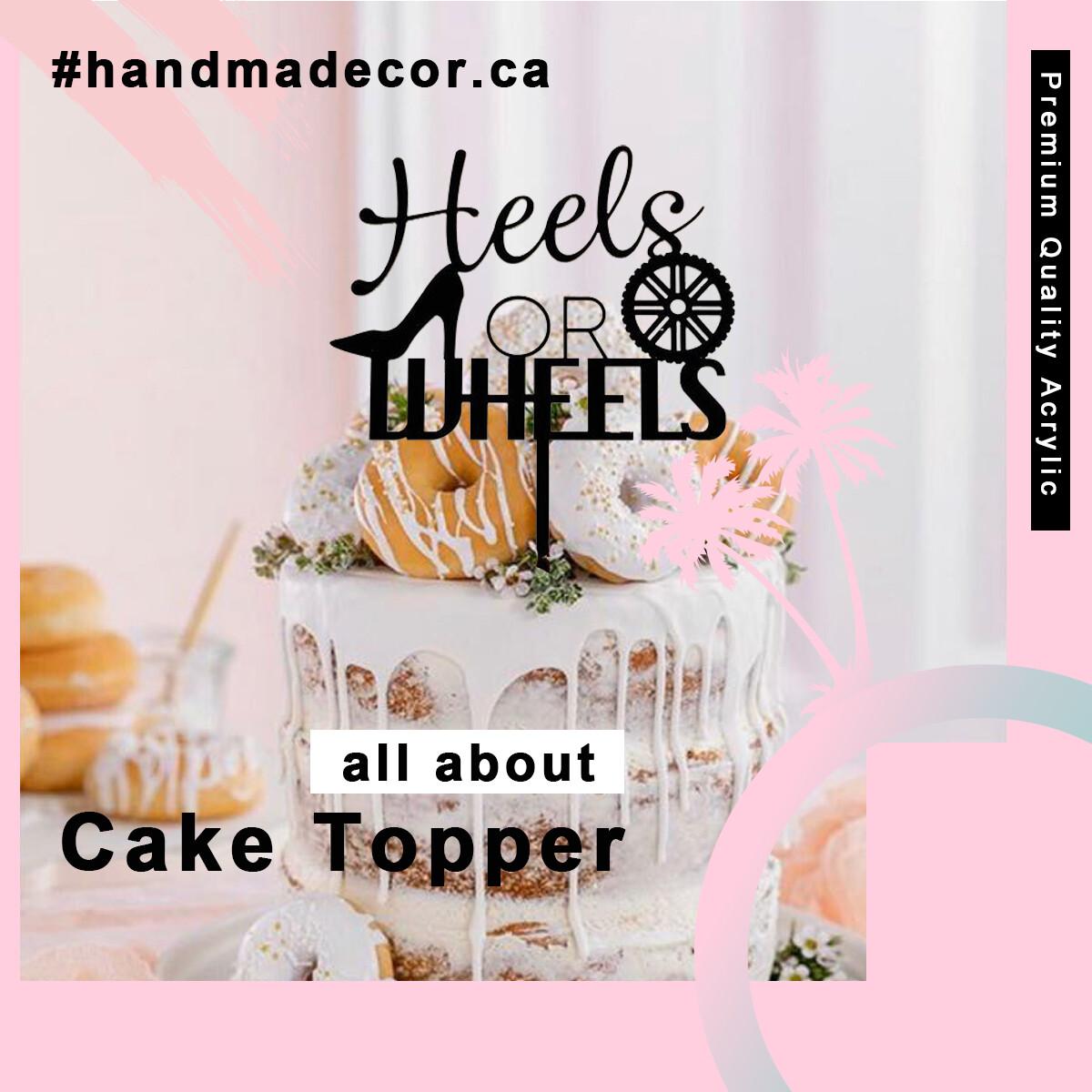 A digital file Boy or Girl Cake Topper - Gender Reveal Cake Topper