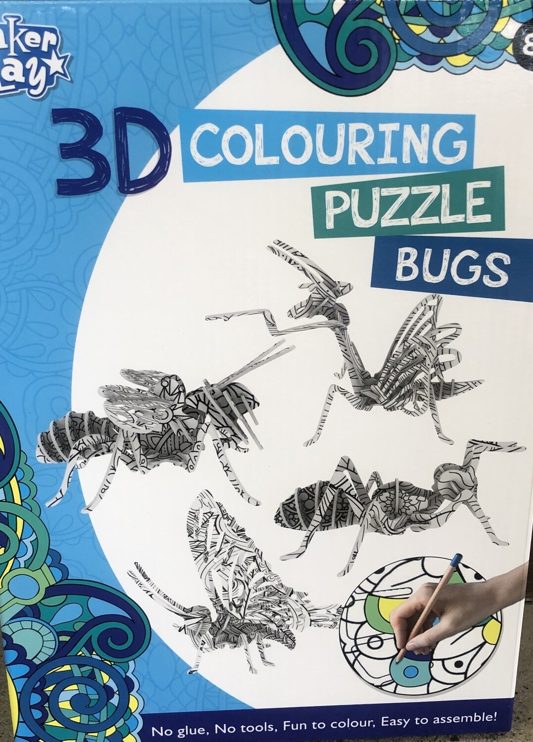 3D Colouring Puzzle Bugs