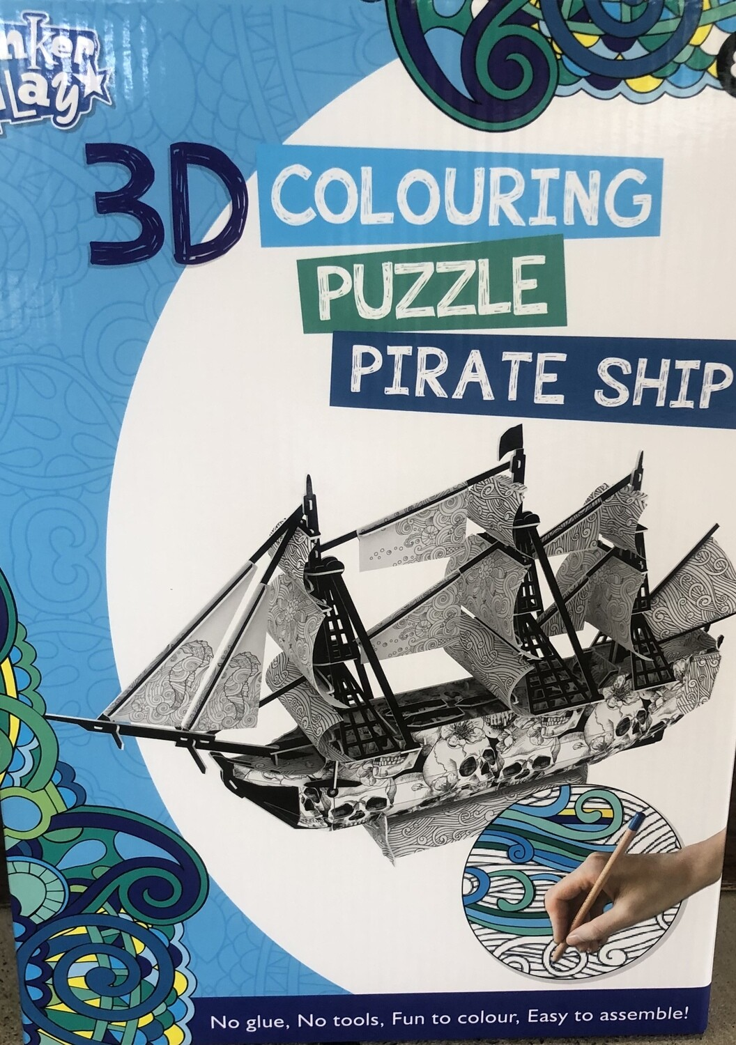 3D Colouring Puzzle Pirate Ship