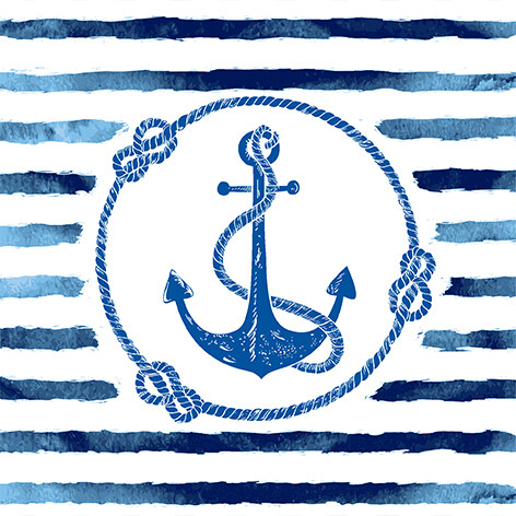 Napkins Anchor Stripe
