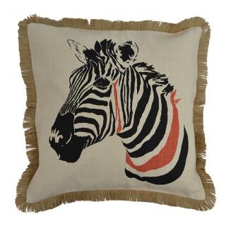Zig Zebra Cotton Cushion