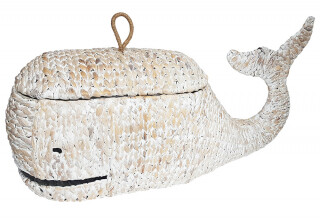 Whale Woven Basket with Lid