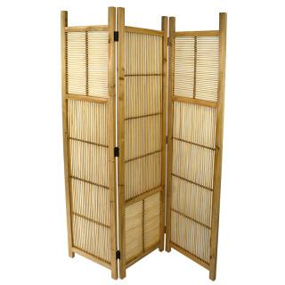 3 Section Natural Wood Room Divider