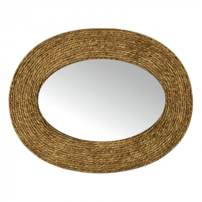 Dharma Oval Grass Weave Mirror
