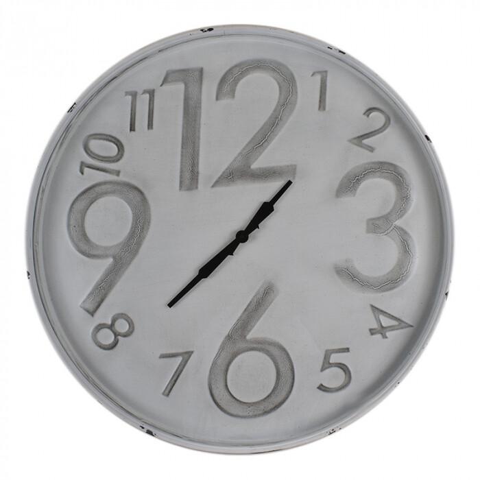 Clock Grey Embossed Numbers 80cm