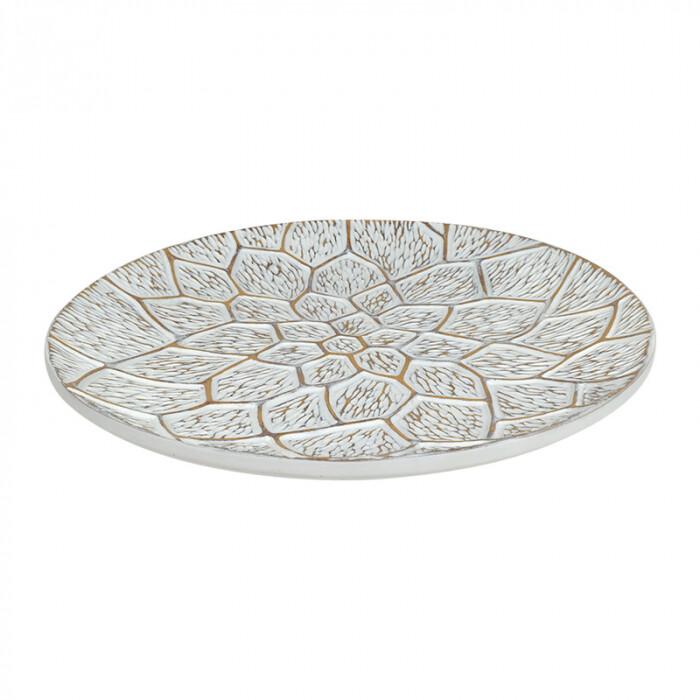 Lagoon Resin Plate White Wash 41x5cm