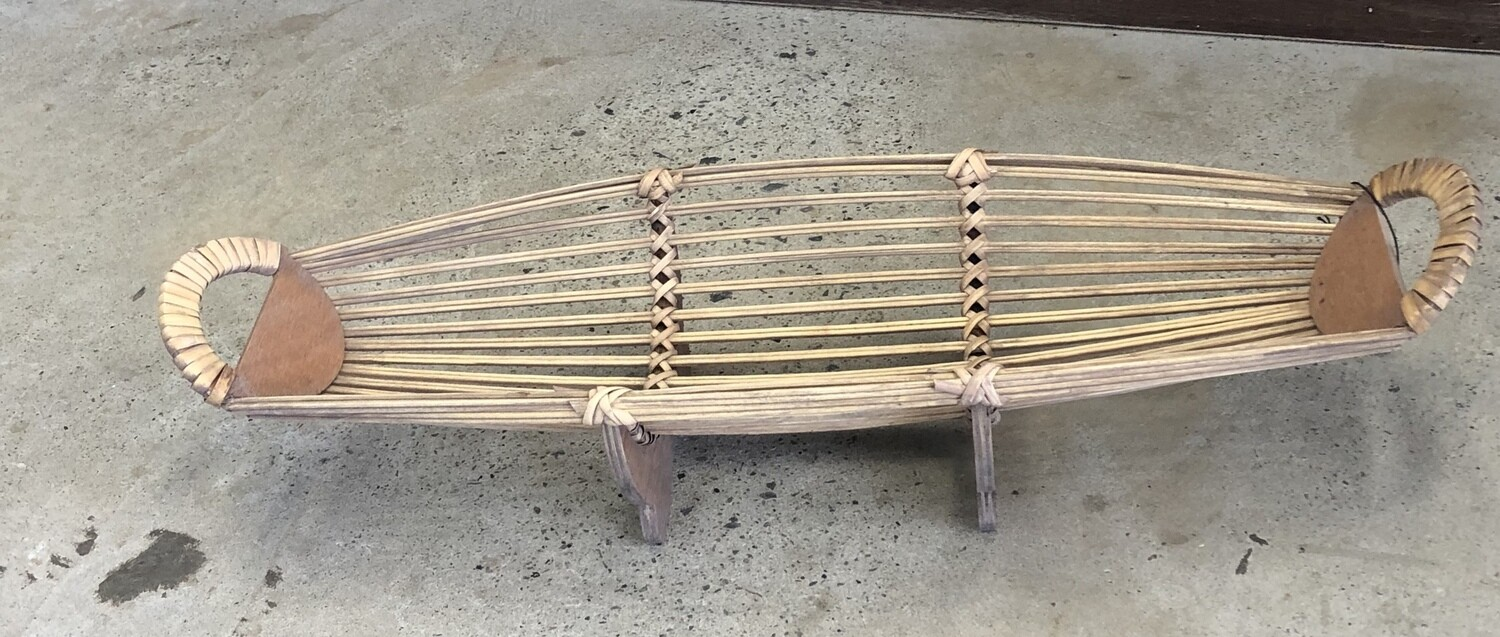 Bamboo Boat Table Piece Small