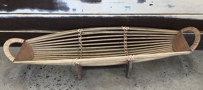 Bamboo Boat Table Piece Large