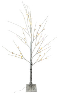 120cm LED White Birch Tree  Realistic Trunk