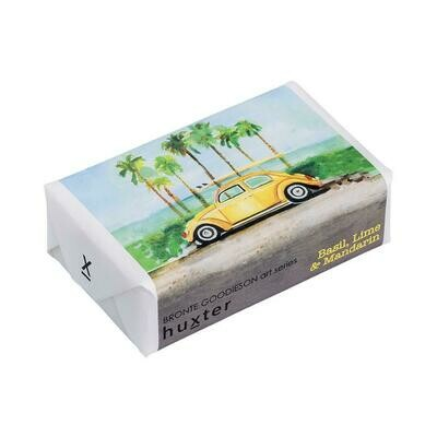Huxter Wrapped Soap - 'Buggie Yellow' - Basil, Lime and Mandarin