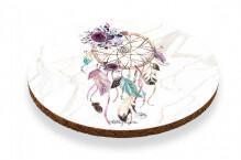 Coasters Circle Set of 6 - Boho Rose Dreamcatcher