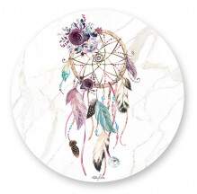 Placemats Set of 6 - Round Boho Dreamcatcher