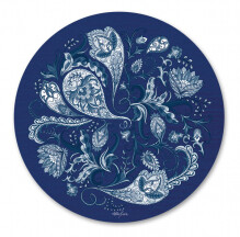 Placemats Set of 6 - Round Chippendale 'Paisley'