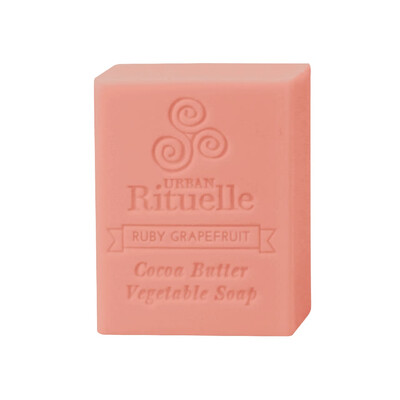 Urban Rituelle Organic Cocoa Butter Vegetable Soap - Ruby Grapefruit