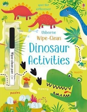 Dinosaur Activities - Wipe Clean Spot the Difference, Mazes, Drawing, Puzzles and more