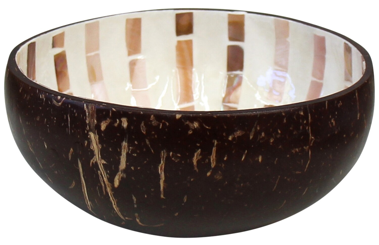 Coconut Bowl with Mother of Pearl Shell 15cm