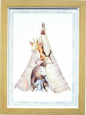 Framed Print Teepee Time