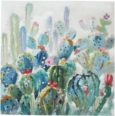 Wall Art Cactus Colours