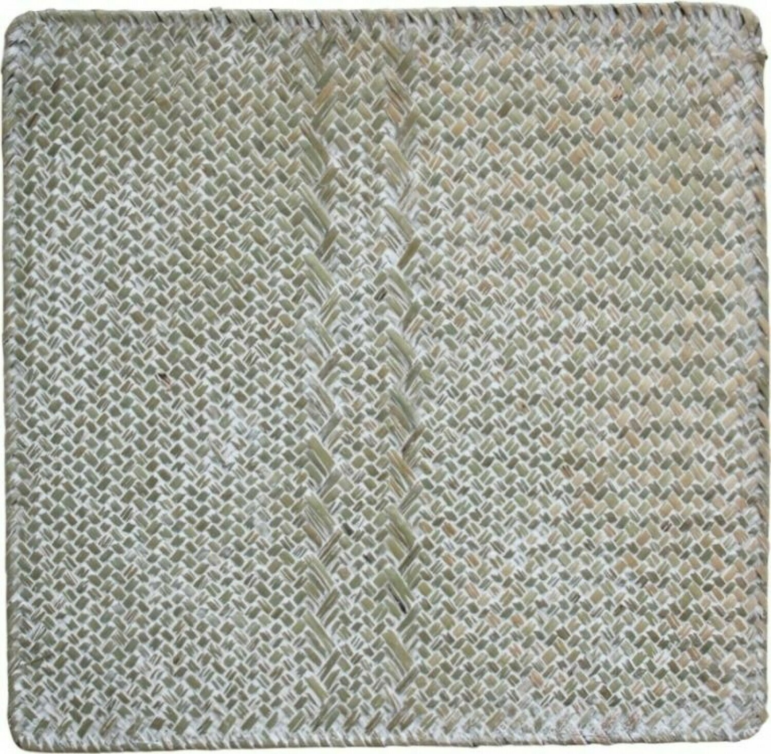 Rattan Table Centrepiece Square - Natural and Whitewash