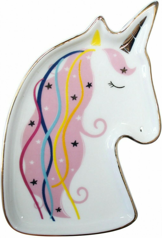 Ceramic Unicorn Trinket Plate