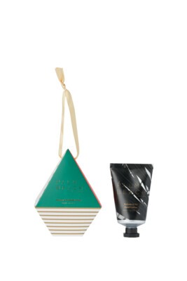 Palm Beach Hanging Bauble With 50ml Hans Cream - Balsam And Fir