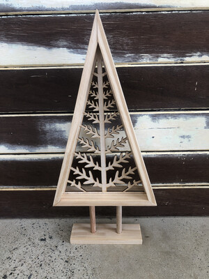 Wooden Tree Cutout Decoration