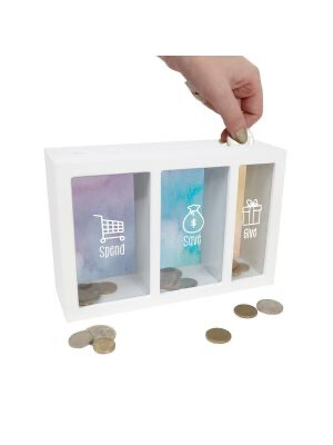 Change Box - 3 Compartments - Spend, Save And Give