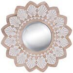 Wood Round Mirror