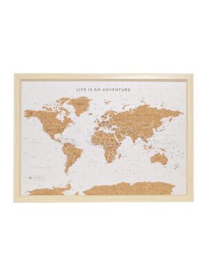 Travel Board Small World Map
