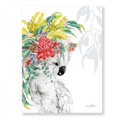 Native Cockatoo Canvas 30x40cm