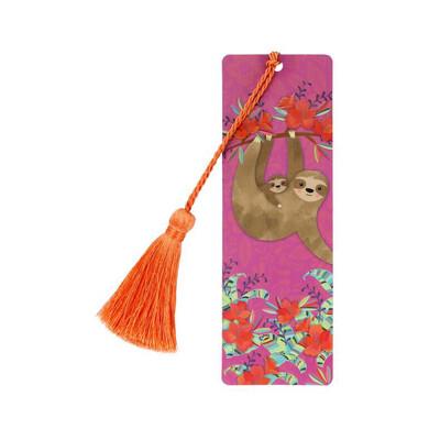 Bookmark With Tassel - Sloth
