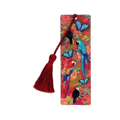 Bookmark With Tassel - Jungle Birds
