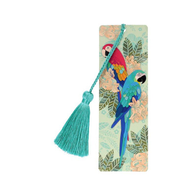 Bookmark With Tassel - Macaws