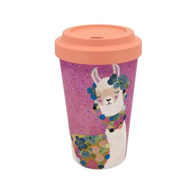 Bamboo Travel Mug Llama