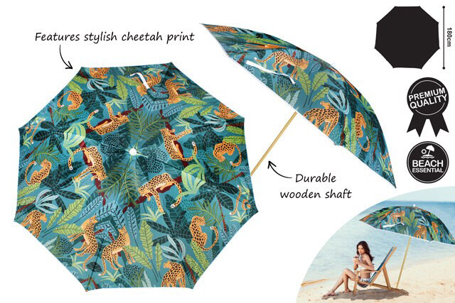 Beach Umbrella 180cm - Jungle Safari