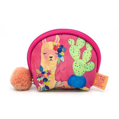 Coin Purse With Pom Pom - Llama