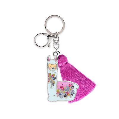 Key Ring With Tassel - Llama