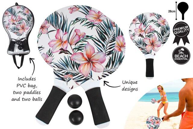 Beach Paddle Game Set - Frangipani