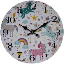 Clock Unicorn 34cm