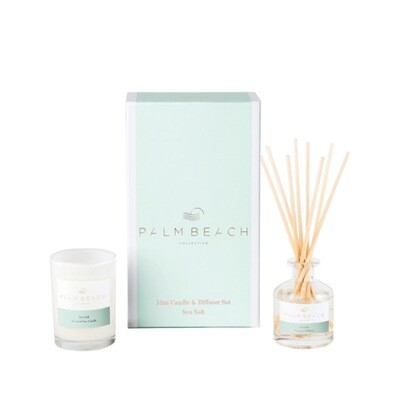 Palm Beach Mini Candle And Diffuser Gift Pack - Sea Salt