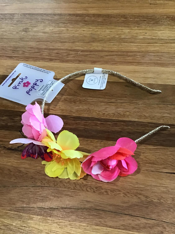 Pink Poppy Magical Garden Headband
