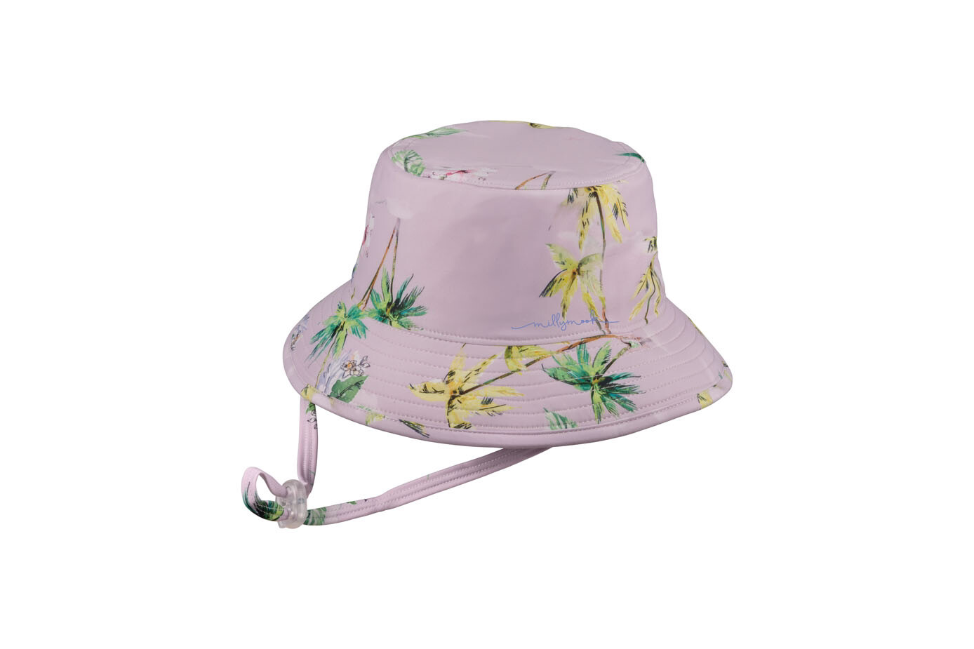 Purple Baby Girls Bucket Hat Pia - Reversible 12-24 Months HBX-0088