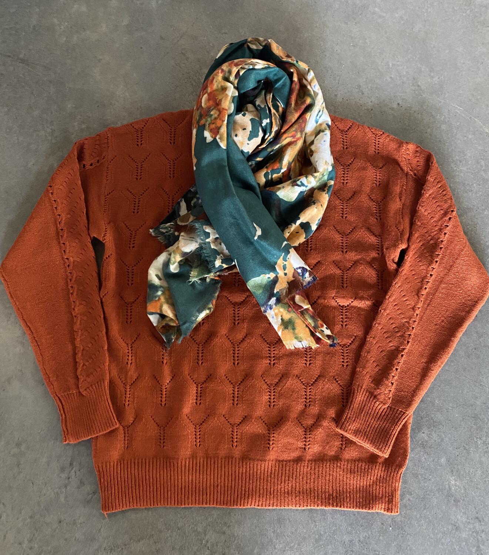 Rust Knit Jumper B5323