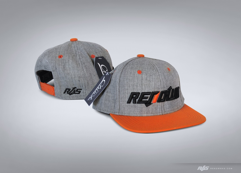 Snap Back Hat Orange/Heather