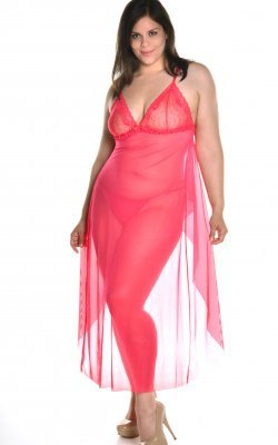 Mesh Open Back Flyaway Gown