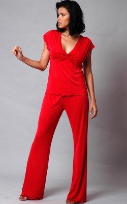 Microfiber knot camisole PJ Set