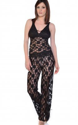 Stretch Lace Camisole PJ Set